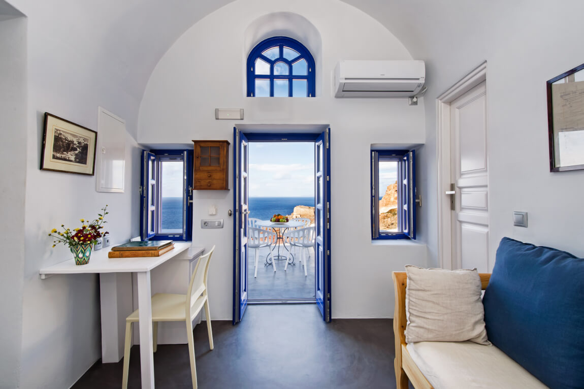 Dream on Santorini in blue and white