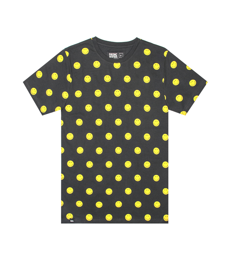 T-Shirt mit Smiley-Muster